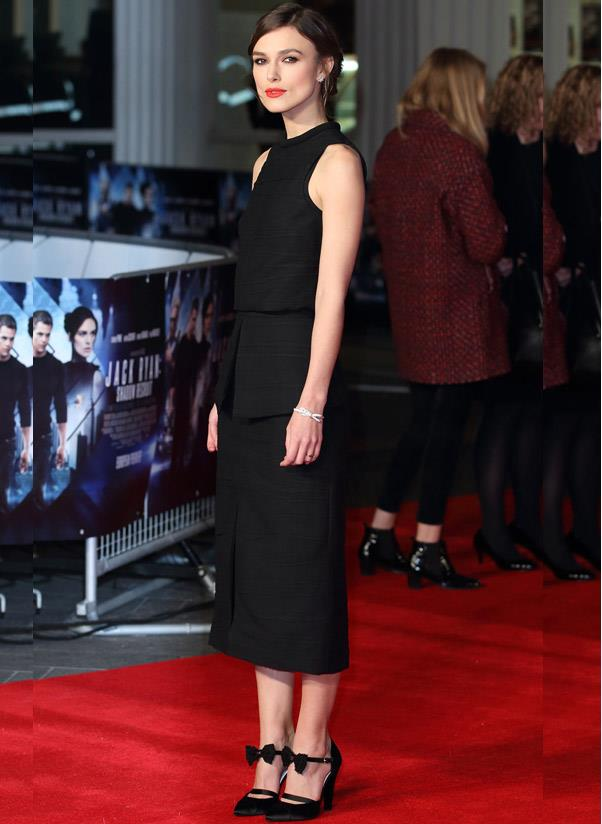<strong>Special occasion black heels</strong><br> Consider these the LBD of your shoe wardrobe. Invest in a some fancy noir footwear that you can pull out for every wedding, party, date, job interview or otherwise. <br> <i>A-lister: Keira Knightley</i>