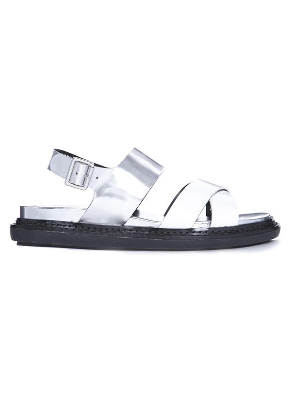 """<b>Metallic sandals</b><br> Be a winner in gold, silver or bronze sandals during spring/summer. Metallics go with, literally, everything – especially pastels and florals of the moment.<br> <i>Shop: River Island Flop Silver Chunky Footbed Flat Sandals; <a href=""""http://us.asos.com/River-Island/River-Island-Flop-Silver-Chunky-Footbed-Flat-Sandals/Prod/pgeproduct.aspx?iid=3655249&SearchQuery=silver%20sandals&sh=0&pge=0&pgesize=36&sort=-1&clr=Silver"""">asos.com</a></i>"""