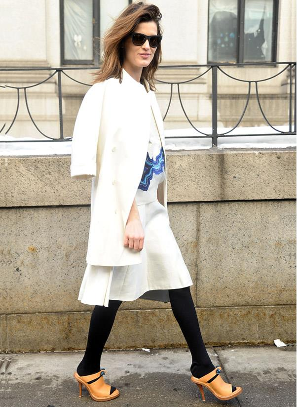 <strong>On trend style</strong><br> Because a girl has got to indulge in at least one trend piece a season… This year, the shoe de jour to slip into is the mule. From spikey heels to sturdy wedges and everything in between, this on-point style packs an on-point punch.<br> <i>A-lister: Hanneli Mustaparta</i>