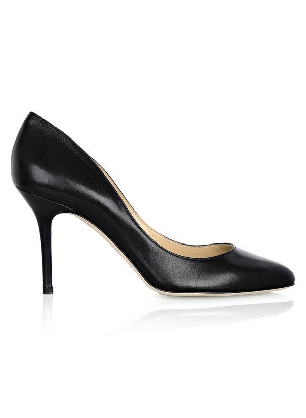 """<strong>A versatile pump </strong><br> It's pointy, it's high and it's your go-to going out shoe. The idea is to have a black, navy or oxblood pair (white is fun but dirties in a moment!) that you can slip into for years to come. <br> <i>Shop: Jimmy Choo Gilbert leather pumps; <a href=""""http://www.net-a-porter.com/product/347745"""">net-a-porter.com</a></i>"""