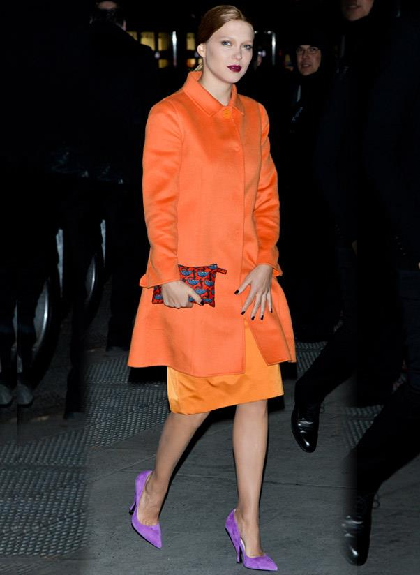 <strong>Colour-pop heels</strong><br> It doesn't matter if they're wedges, strappy sandals, ankle-strap heels or pumps: everyone needs a pair of colourful shoes that scream look-at-me!<br> <i>A-lister: Léa Seydoux</i>