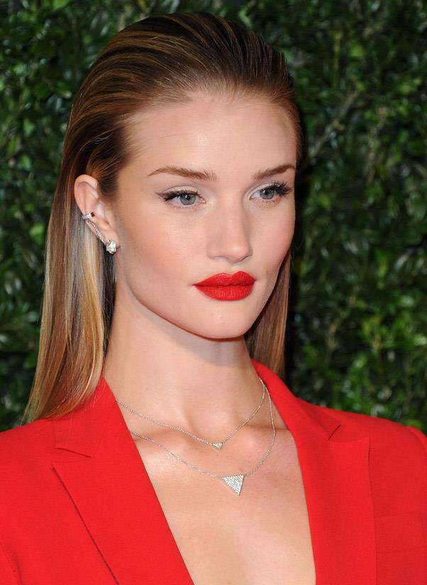 <strong>Ear cuffs</strong><br> The ear-cuff has been hovering around for some seasons and it's not going anywhere. Opt for a chain-style to propel it into 2014. <br> <i>Image: Rosie-Huntington Whitely</i>