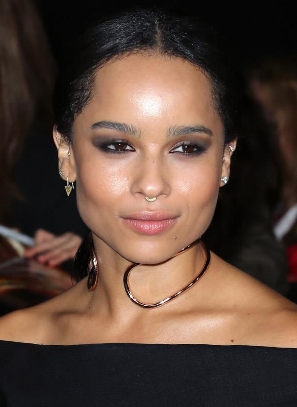<strong>Choker</strong><br> The collared necklace is having a moment. Coming in all shapes and sizes, the delicate rose gold kind is the most feminine of the lot. <br> <i>Image: Zoë Kravitz</i>