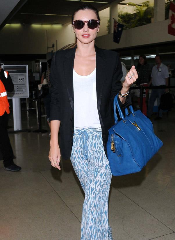 <b>Saint Laurent Ligne Classique Y</b><br> Hedi Slimane may have dropped the Yves from the Saint Laurent label, but the Y handbag continues to steal the limelight. <br> <i>Miranda Kerr (2012)</i>