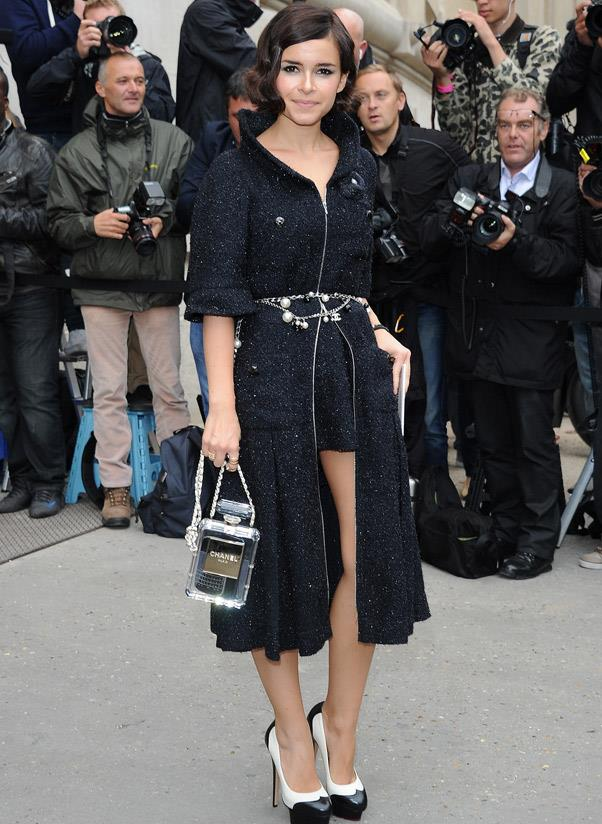 <b>Chanel Perfume Bottle</b><br> Turning the classic fragrance into an instant classic handbag? Pure Karl Lagerfeld genius from resort 2013. <br> <i>Miroslava Duma (2013)</i>