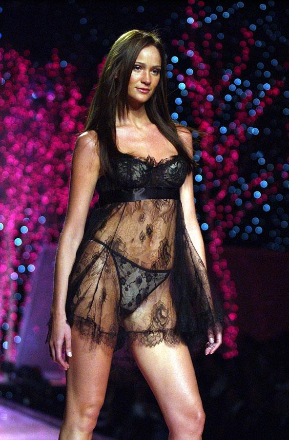 <strong>RETIRED ANGELS</strong> <br>Argentinian model Inés Rivero was signed as an Angel in 1998, and spent years working alongside the original supermodels. <br><em>Inés Rivero at the Victoria's Secret Fashion Show 2001</em>