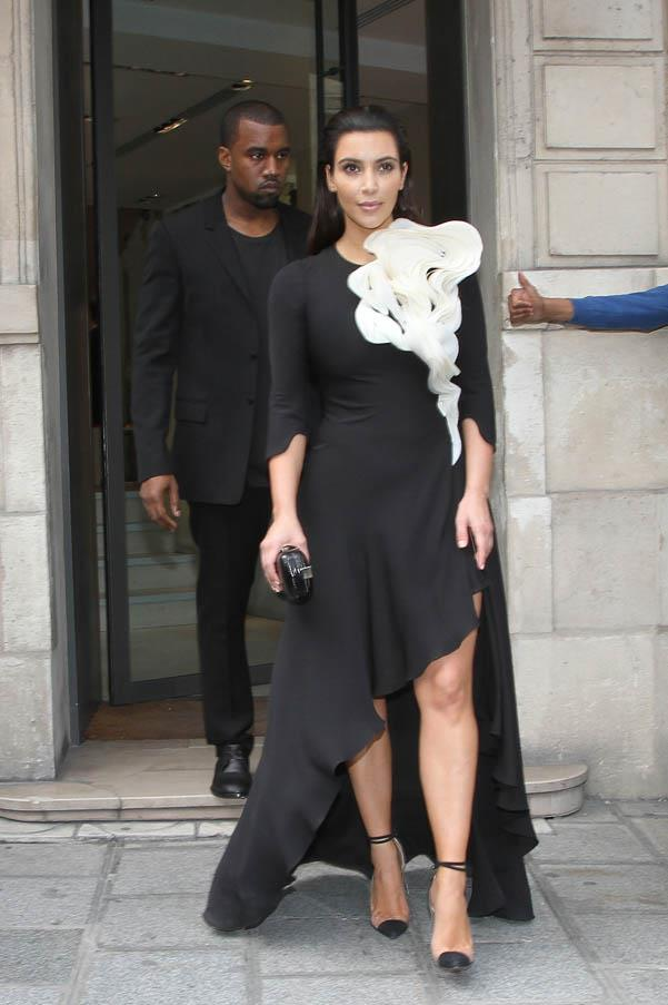 With Kanye on the streets of Paris in July 2012.