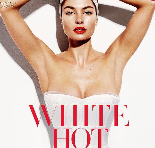 Jessica Hart on the cover of Harper's BAZAAR
