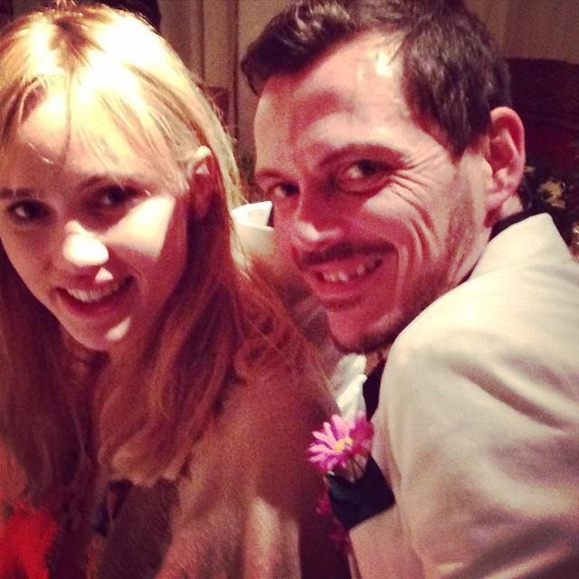 """Suki Waterhouse with Matthew Williamson. <br> <a href=""""http://instagram.com/peter_dundas"""">@peter_dundas</a>"""