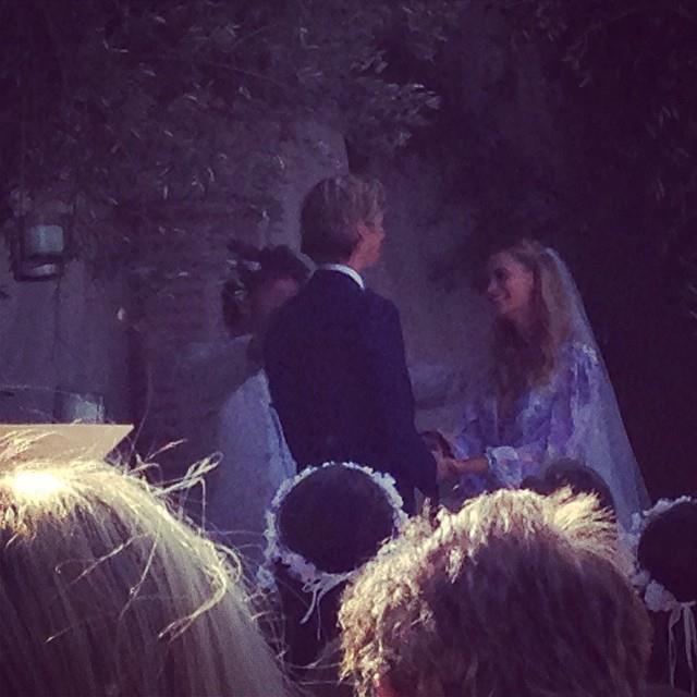 """The couple say """"I do"""" - again.   <br> <a href=""""http://instagram.com/peter_dundas"""">@peter_dundas</a>"""
