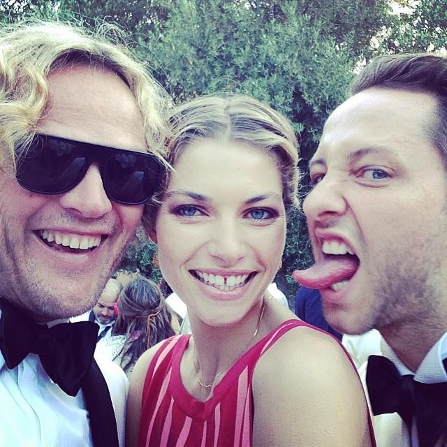 "Peter Dundas with Jessica Hart and Harper's BAZAAR editor-at-large Derek Blasberg.  <br> <a href=""http://instagram.com/peter_dundas"">@peter_dundas</a>"