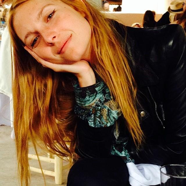 "Model and singer Josephine de la Baume was one of the wedding guests.   <br> <a href=""http://instagram.com/peter_dundas"">@peter_dundas</a>"