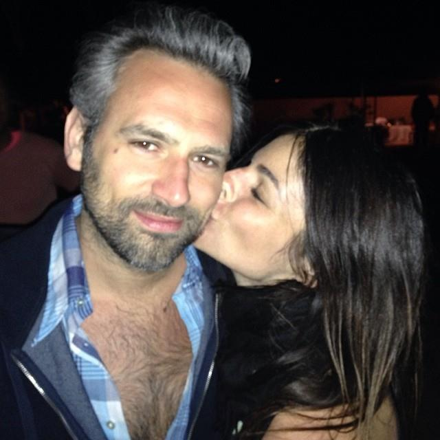 """Julia Restoin Roitfeld with businessman Olivier Van Themsche. <br> <a href=""""http://instagram.com/peter_dundas"""">@peter_dundas</a>"""