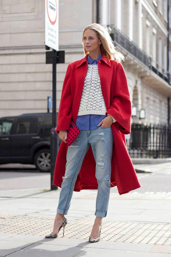 <strong>Borrow from the boyfriend</strong> <br>Boyfriend jeans were the denim staple at the autumn/winter shows. Poppy Delevingne chose a preppy layered look (with classic British colours, we might add) during London Fashion.
