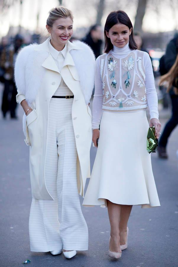 <strong>White out</strong> <br>Make a statement in head-to-toe white, layering textures and shades of cream to give the look dimension.