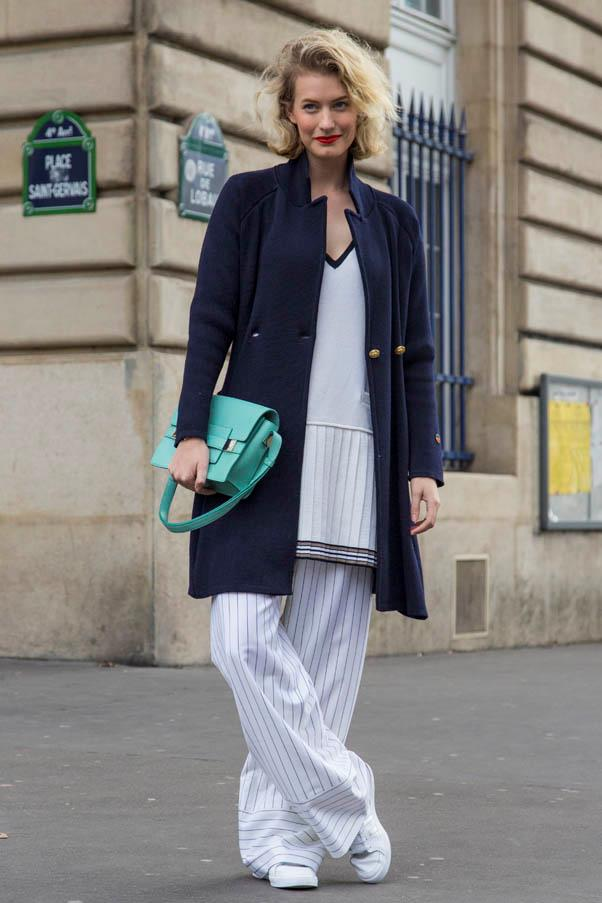 <strong>Wide-leg pants</strong> <br>If you want to wear this trend with flats, you'll need the advantage of height on your side to avoid looking swamped.