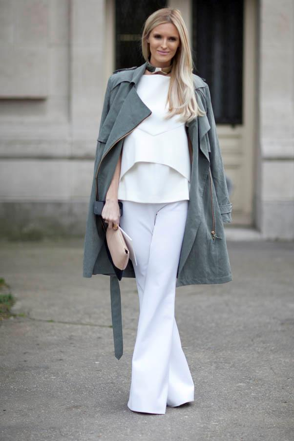 <strong>Wide-leg pants</strong> <br>Not ready to go all the way? A flared version adds more structure to the look.