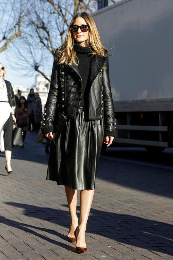 <strong>Statement leather</strong> <br>Love your leather? Layer multiple pieces for a statement look - a monochromatic colour palette works best for this look.