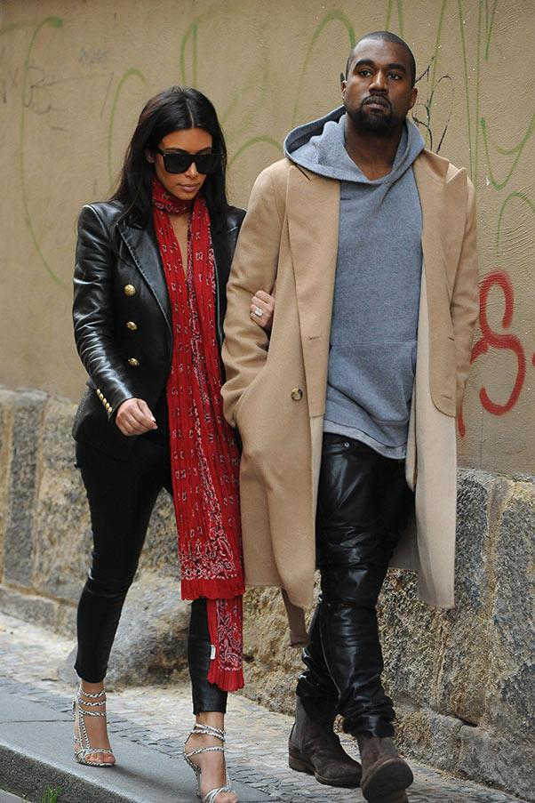 On the streets of Prague with Kanye West, on 30 May.