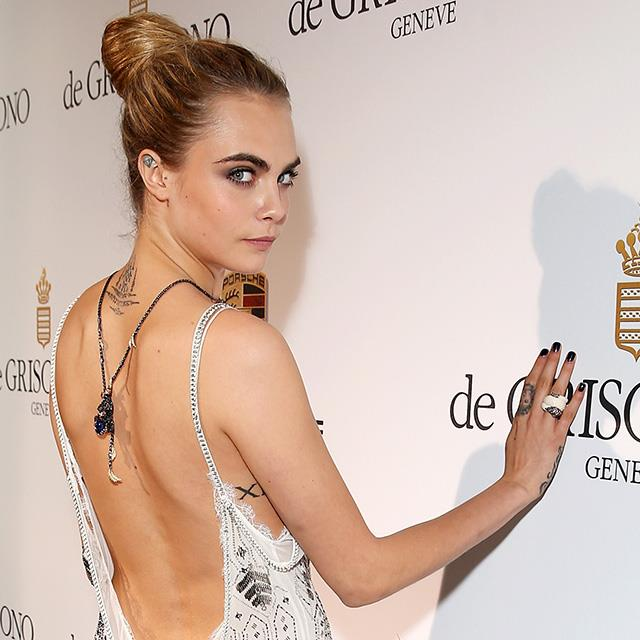 "Delevingne's roman numeral tattoo was inked by Brazilian tattoo artist Daniel Tucci during the 21-year-old model's October trip to Rio de Janeiro in October last year.  ""She told me that 12 is her lucky number,"" he said. <br><br>The model also debuted an intricate tattoo on the back of her neck at sister Poppy Delevingne's wedding earlier this year, and has both a southern cross constellation and diamond tattooed on her ears."