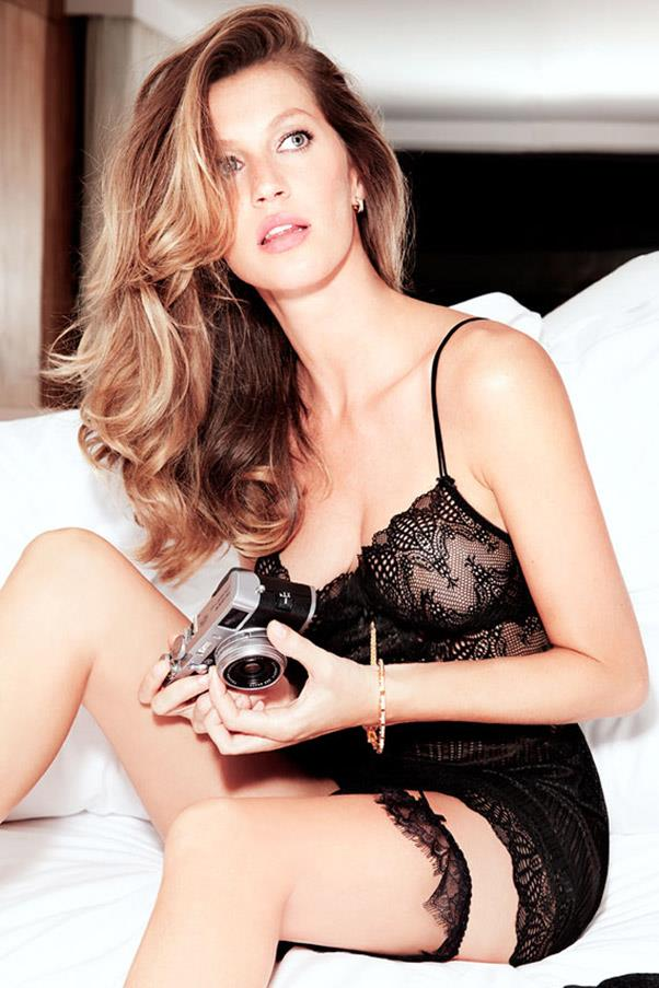 A shot from a Gisele Intimates campaign in 2013.