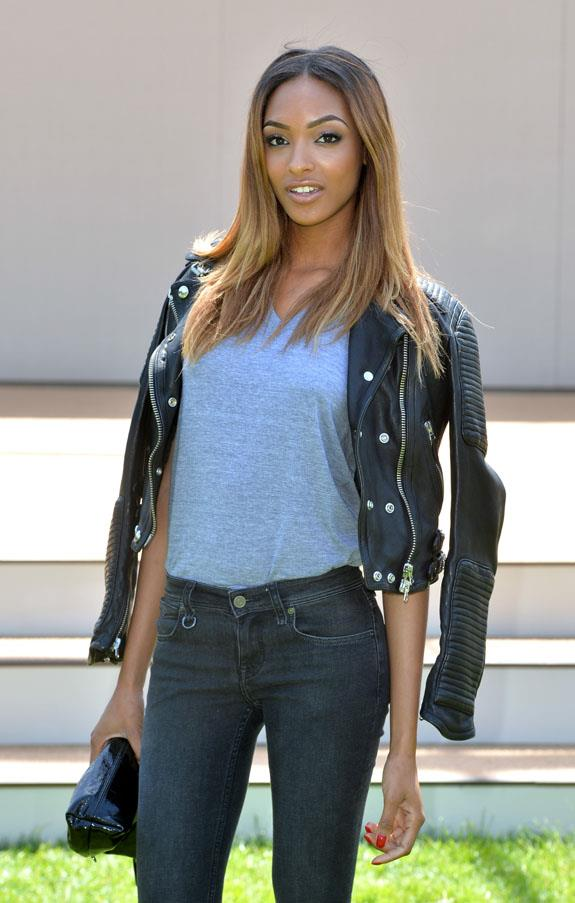 <strong>Leather biker jacket</strong> <br>No wardrobe is complete without one, adding instant cool-girl appeal to both casual and dressy attire. <br><em>Jourdan Dunn</em>
