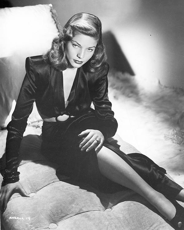 """Here is a test to find out whether your mission in life is complete. If you're alive, it isn't."" <br><br><em>A 19-year-old Bacall in the early 1940s.</em>"