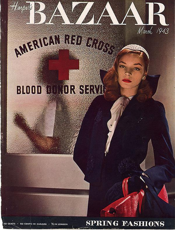 """It's inappropriate and vulgar and absolutely unacceptable to use your private life to sell anything commercially."" <br><br><em>The cover that launched her career: Bacall on the cover of the March 1943 cover of US Harper's BAZAAR, aged 19. </em>"