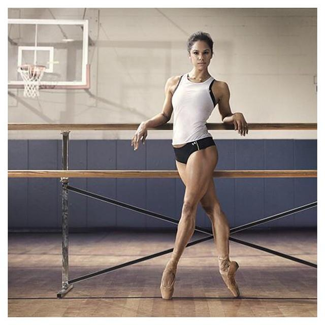 "Misty Copeland <a href=""http://instagram.com/mistyonpointe""><br>@mistyonpointe</a><br>Professional ballerina Misty Copeland will get you on your toes with her inspiring imagery. Where do we sign up?"