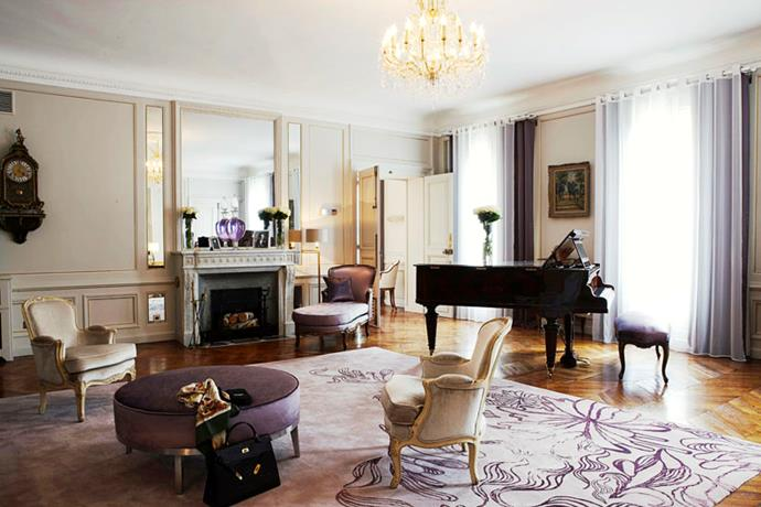 "<strong><a href=""http://www.hotel-lancaster.com/uk/hotel-5-etoiles-champs-elysees-site-officiel.php"">Hôtel Lancaster</a>, Paris</strong> <br><br>Check in at the Lancaster and you'll find yourself a stone's throw of the Espace Culturel Louis Vuitton on the Champs-Élysées and the Céline boutique on Avenue Montaigne. And after a day of frock-watching, this tranquil haven delivers just what you need: respite from the biannual fashion circus and an actual meal. <br><br>The Lancaster's freshly renovated inner courtyard is planted with flora from five different continents, while in its Michelin-starred restaurant, La Table du Lancaster, chef Julien Roucheteau takes you on a gastronomic stroll through seasonal French fare. Bliss. <br><em>– Jamie Huckbody</em> <br><br><a href=""http://www.hotel-lancaster.com/uk/hotel-5-etoiles-champs-elysees-site-officiel.php"">hotel-lancaster.com</a>"