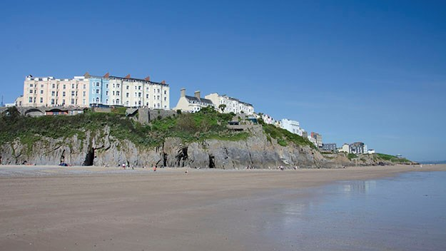 The pristine sands of Tenby's South Beach.