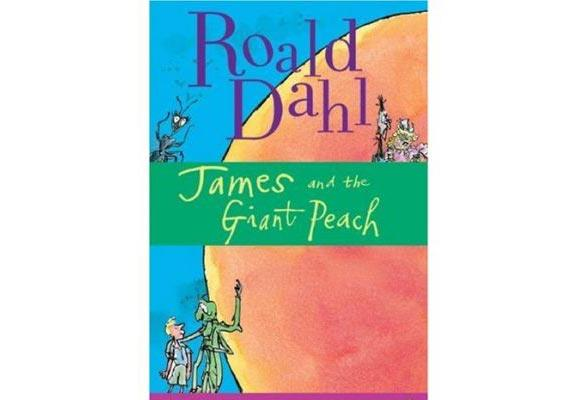 James and the Giant Peach By Roald Dahl   A story about a young boy - James - who has been orphaned and forced to stay with his horrible aunts, Spiker and Sponge, after a rhinoceros killed his parents. James accidentally drops crystals underneath a peach tree in the backyard, which causes one peach to grow to be as big as a house - with a secret passageway to boot.