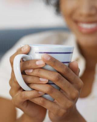 Just taking five minutes to enjoy a cup of tea (ideally herbal) can do wonders to wash away the stress. Drinking it hot will be a bonus.
