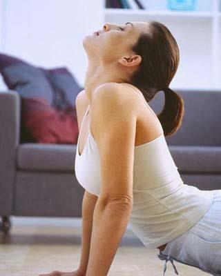 Practice some basic yoga moves every day. Yoga relaxes your body as well as helping you get those killer abs.