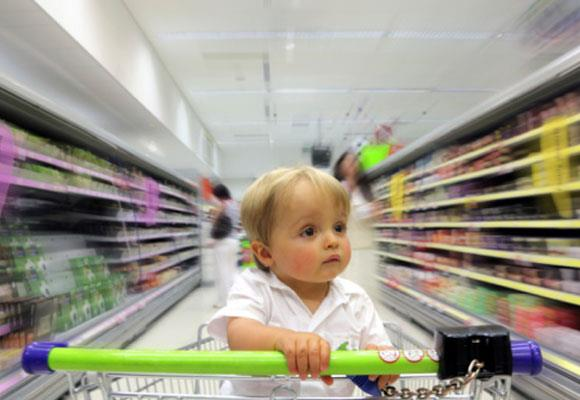 **Shopping**  Companies pay big money for marketing in stores to attract kids to their products and it is one of the most common places when a child is frustrated being stuck in a trolley to have a tantrum over a toy or lolly. Avoid taking your child if they are tired, hungry or bored, and make sure you engage them in the shopping activities to help distract them. Better yet, shop without them or online.