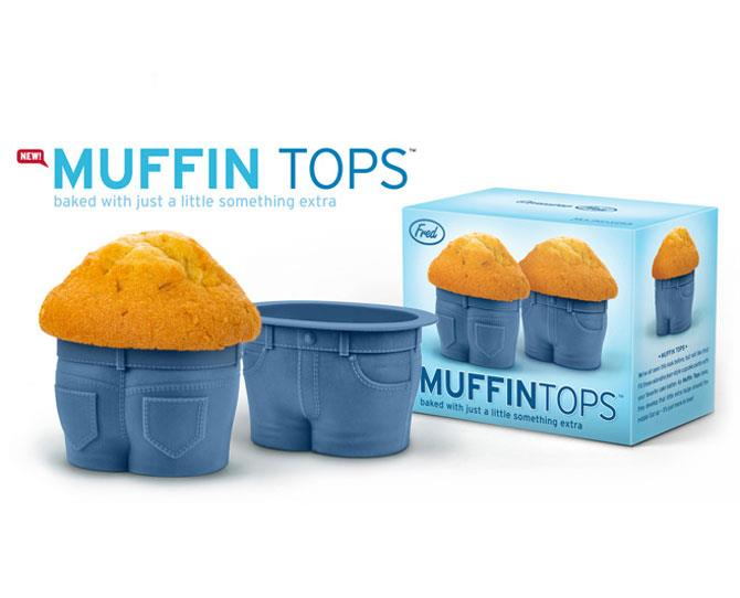 "***MUFFIN TOP CUPCAKE MOLDS***  For the daddy who claims his weight gain over the past nine months was a 'sympathy pregnancy', these are a [gentle and tasty](http://www.perpetualkid.com/muffin-tops-cupcake-molds.html/|target=""_blank"") reminder that it's all just more to love."