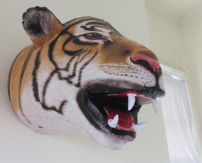 UNDER $50  The Giant Inflatable Tiger Head, $39.95, by Big Mouth Toys at childrensdept.com.au is just the thing to pimp up your baby's room or decorate and kids' party. Don't ask why, just inflate and have fun!