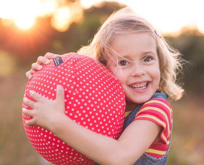 UNDER $25  A Balloon Ball, $14.95, by nic-nac.com.au is and awesome option for travelling  – just fold up the cover and inflate balloon when you get there – and for rainy days as it's soft enough for inside.