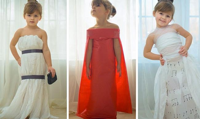 Meet the fashion-obsessed preschooler who crafts designer gowns out of paper