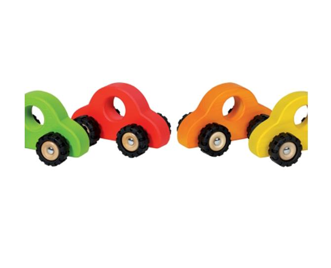 The Goki Wooden Car is colourful and robust with a matt, non toxic finish, available in red, yellow, orange or green. The cars are manufactured in Europe to strict quality and safety standards.  $11.95 from Peanut Gallery