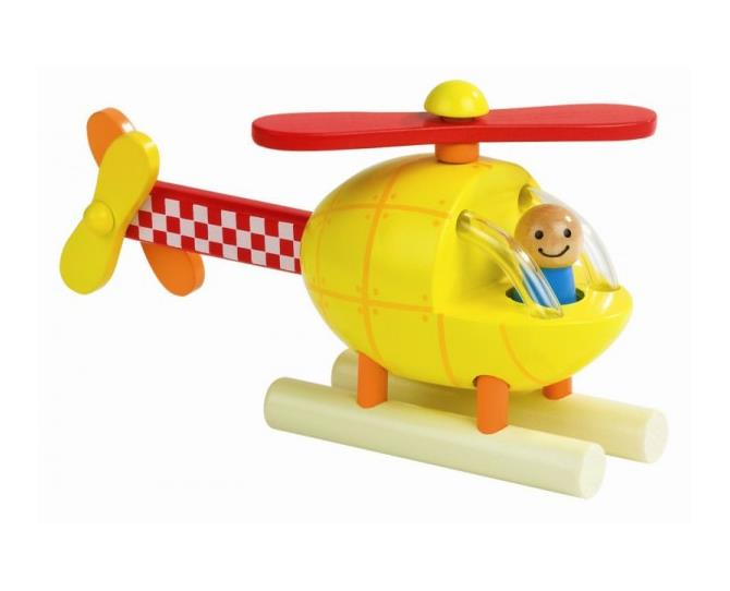 This brightly-coloured and well crafted helicopter contains parts that connect via small magnets, making it a simple puzzle for 18 months and over. Janod is a French company that specialise in quality wooden toys.  $32.95 from Flying Penguin