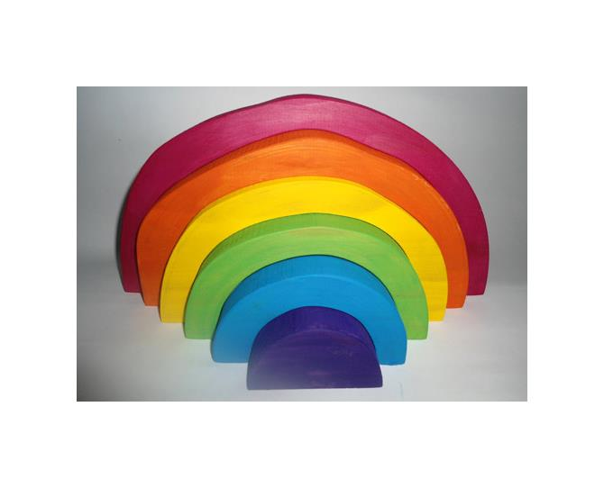 Rainbow Puzzle Blocks encourage creative play, and are handmade right here in Australia. Create tunnels, caves and houses or stack them in order. Made from natural and organic materials.  $39.95 from Eco Toys