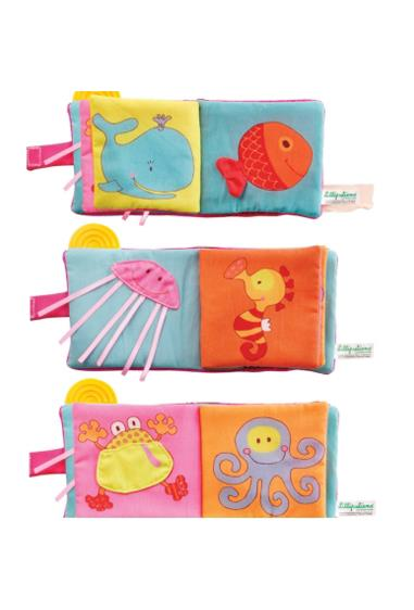 This sea-themed playbook is soft and amusing for babies from three months. Introduces sea creatures in bright colours, manufactured to strict quality and safety standards.  $22.95 from Peanut Gallery