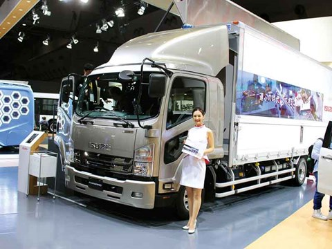 Truck display at the Tokyo Motor Show 2017