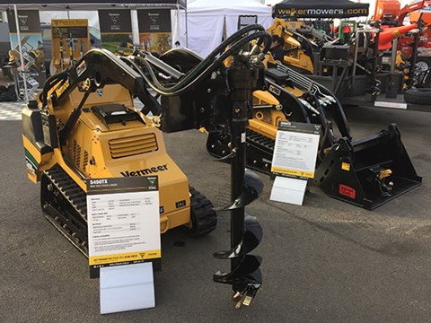Vermeer's S450TX mini skid-steer loader has a 227kg operating capacity and 649kg tipping capacity and a single pilot-operated joystick for smooth operation.