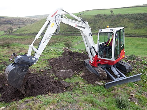 The Takeuchi TB260 excavator being tested by Geoff Ashcroft.