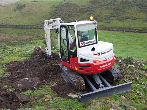 The TB260 was created to bridge the gap between Takeuchi's TB250 and TB285 excavators.