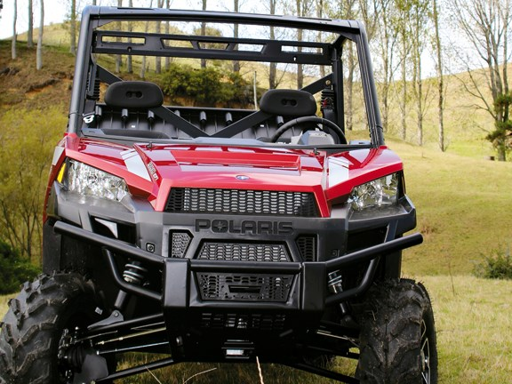 Front view of Polaris Ranger xp 900