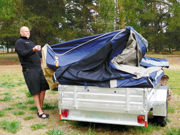 Easier to set up than a tent with storage options similar to motorhomes Oztrailu0027s c&er trailer is a comfortable in-between option for those who want to ... & Oztrail camper trailer