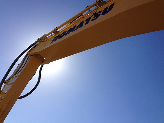 Komatsu was one of the biggest exhibitors at Civenex 2014.